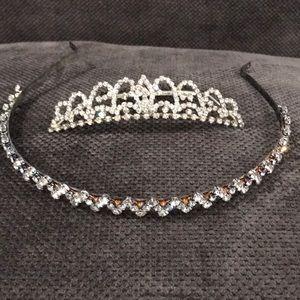 Rhinestone Tiara and Headband